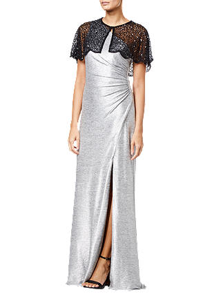 Buy Adrianna Papell Beaded Mesh Cover Up, Black, S Online at johnlewis.com