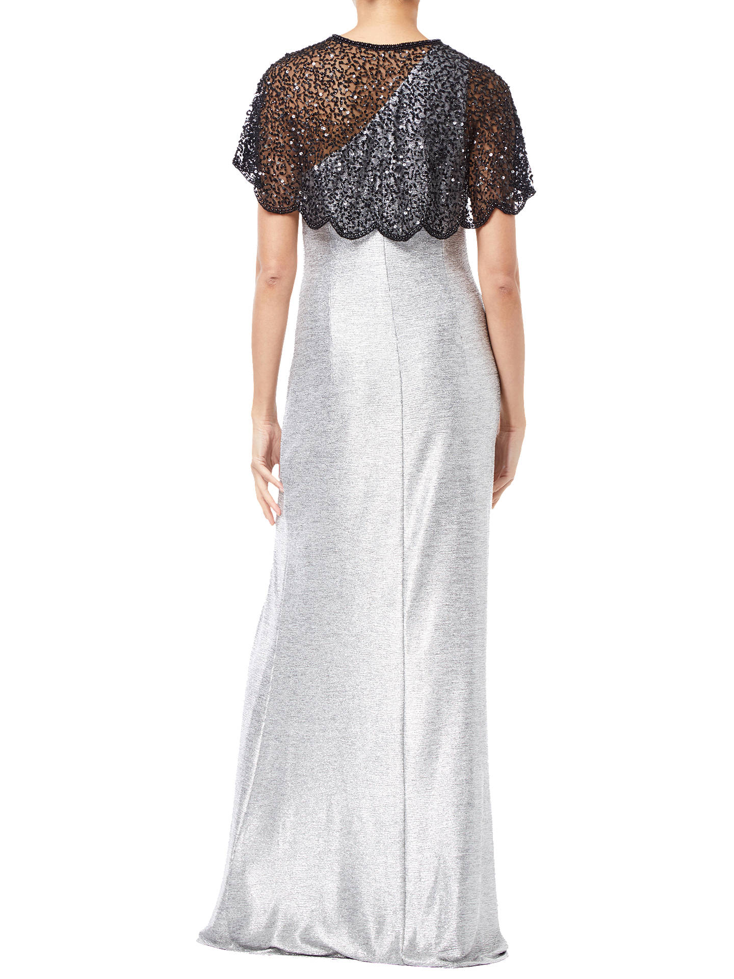 BuyAdrianna Papell Beaded Mesh Cover Up, Black, S Online at johnlewis.com