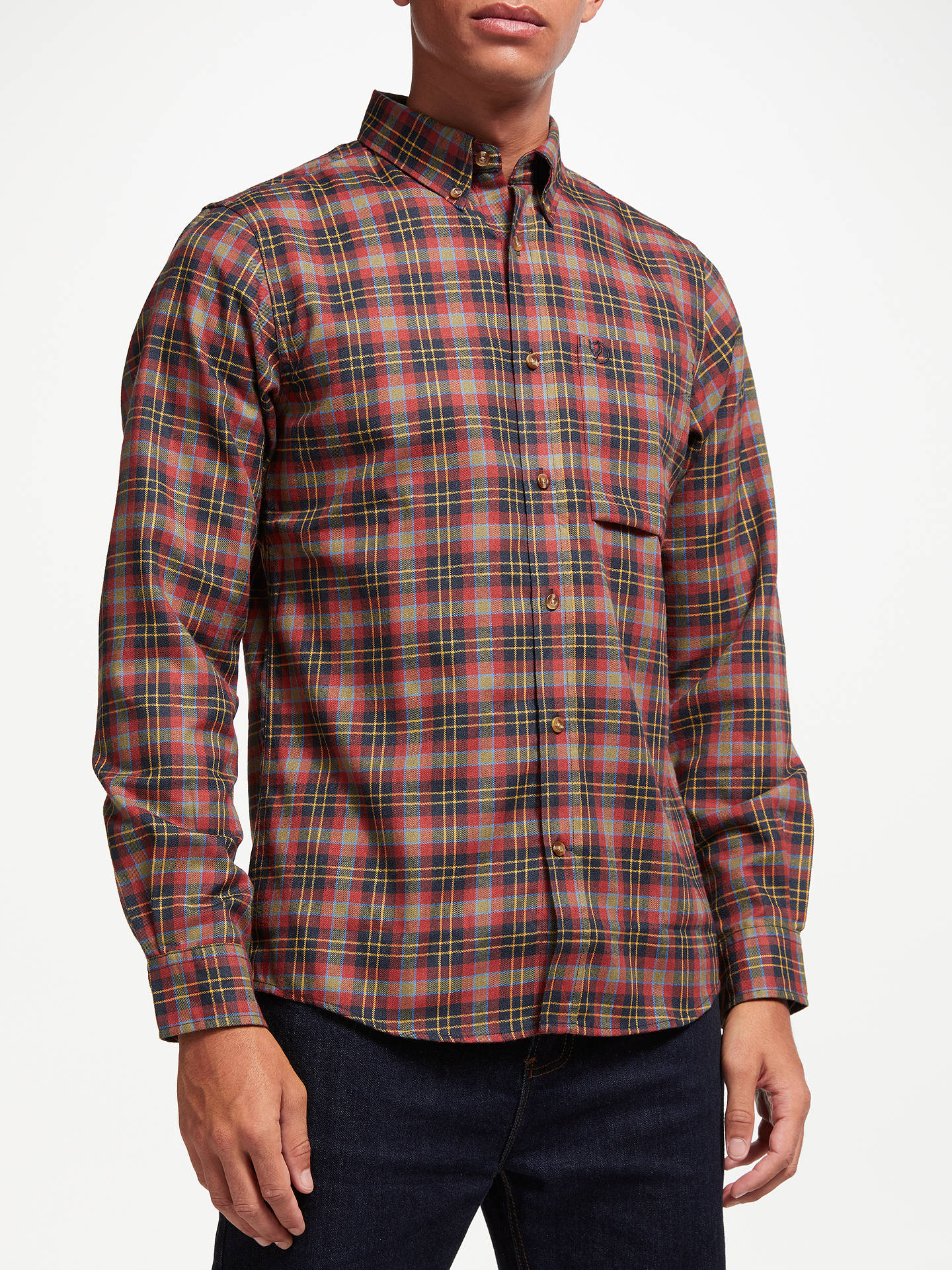 0996a016 Buy Fjällräven Ovik Long Sleeve Flannel Plaid Shirt, Autumn Leaf, M Online  at johnlewis ...