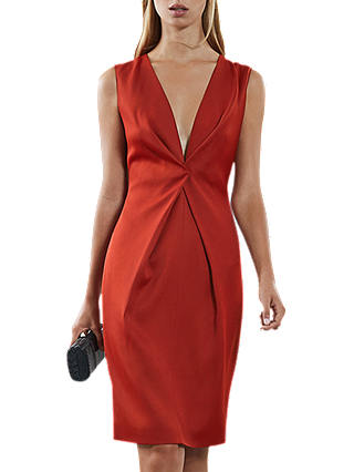 Buy Reiss Mosaic Twist Dress, Red, 6 Online at johnlewis.com