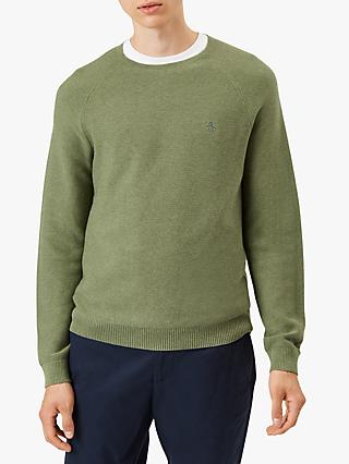 Original Penguin Mini Texture Crew Neck Sweatshirt, Green