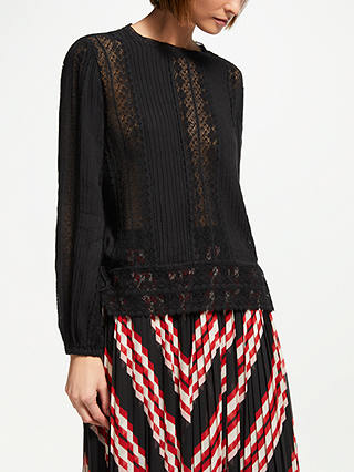 Buy Swildens Tanael Blouse, Black, 12 Online at johnlewis.com