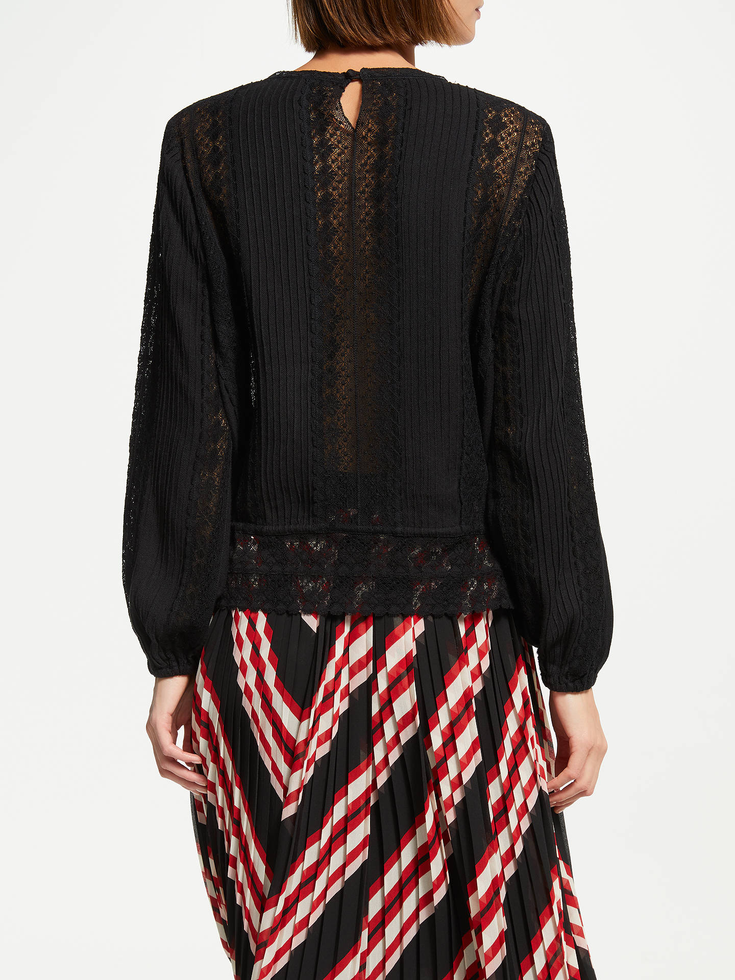 Buy Swildens Tanael Blouse, Black, 10 Online at johnlewis.com