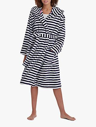 Joules Rita Stripe Fleece Dressing Gown 42f93dd37