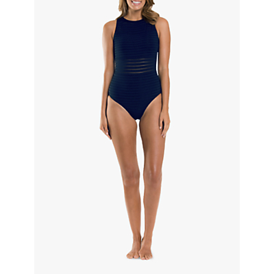 JETS Parallels High Neck Swimsuit, Navy