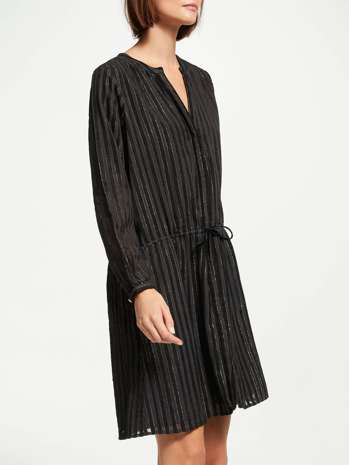 BuySwildens Tea Shirt Dress, Black, 8 Online at johnlewis.com