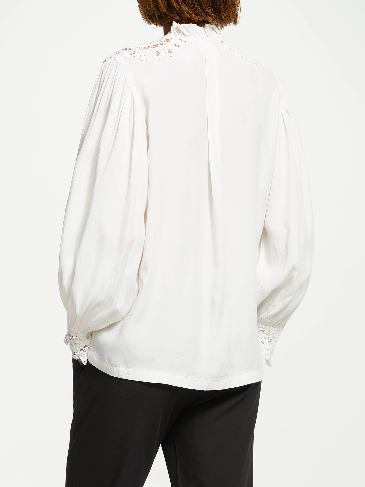 BuySwildens Timote Embroidered Detail Blouse, Ivory, 12 Online at johnlewis.com