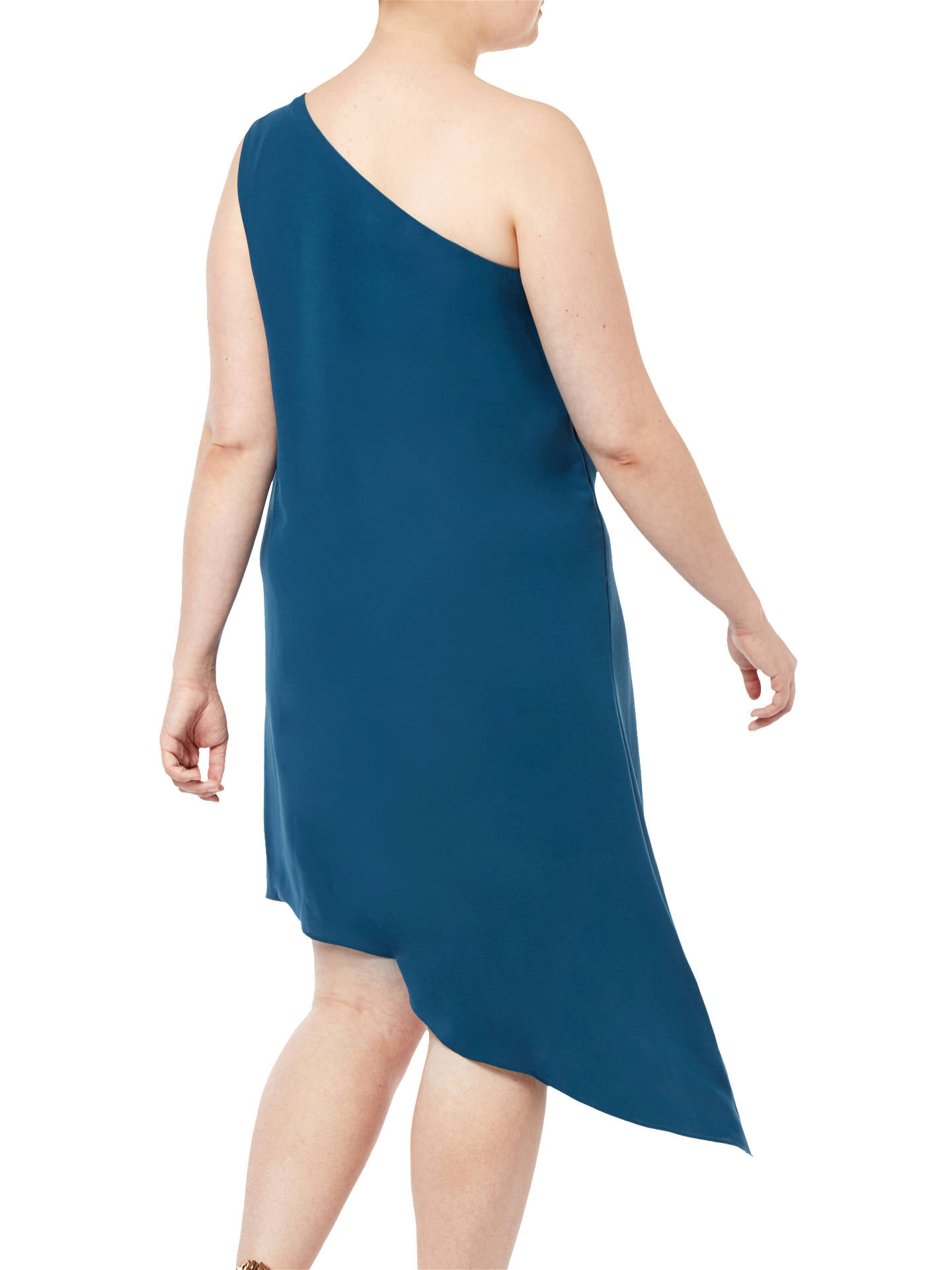 Buy Adrianna Papell Draped Crepe Dress, Midnight Jungle, 18 Online at johnlewis.com
