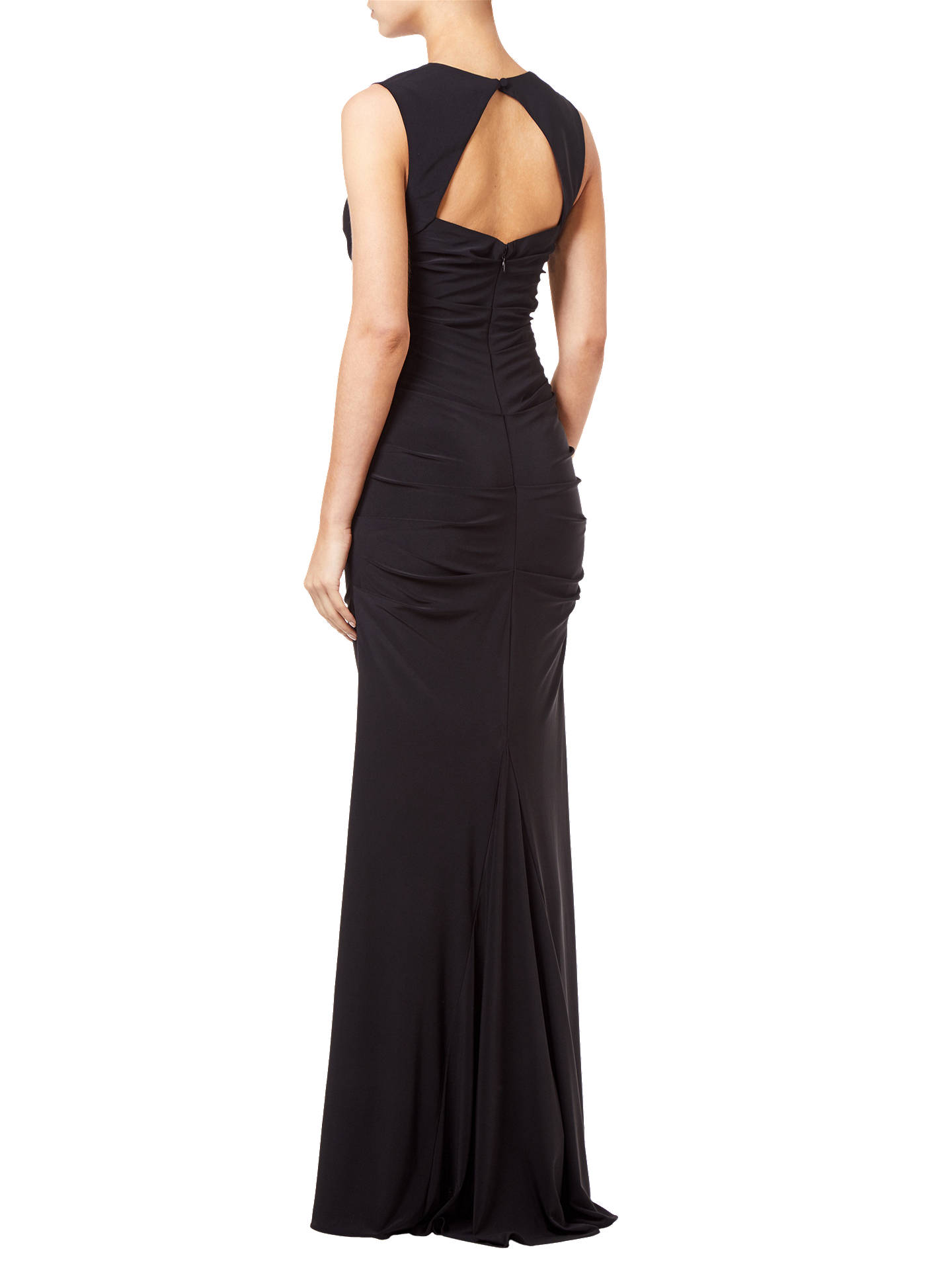 BuyAdrianna Papell Sleeveless Jersey Gown, Black, 6 Online at johnlewis.com