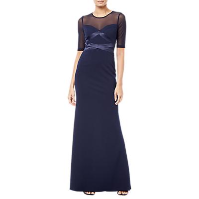 Adrianna Papell Mesh Maxi Dress, Midnight