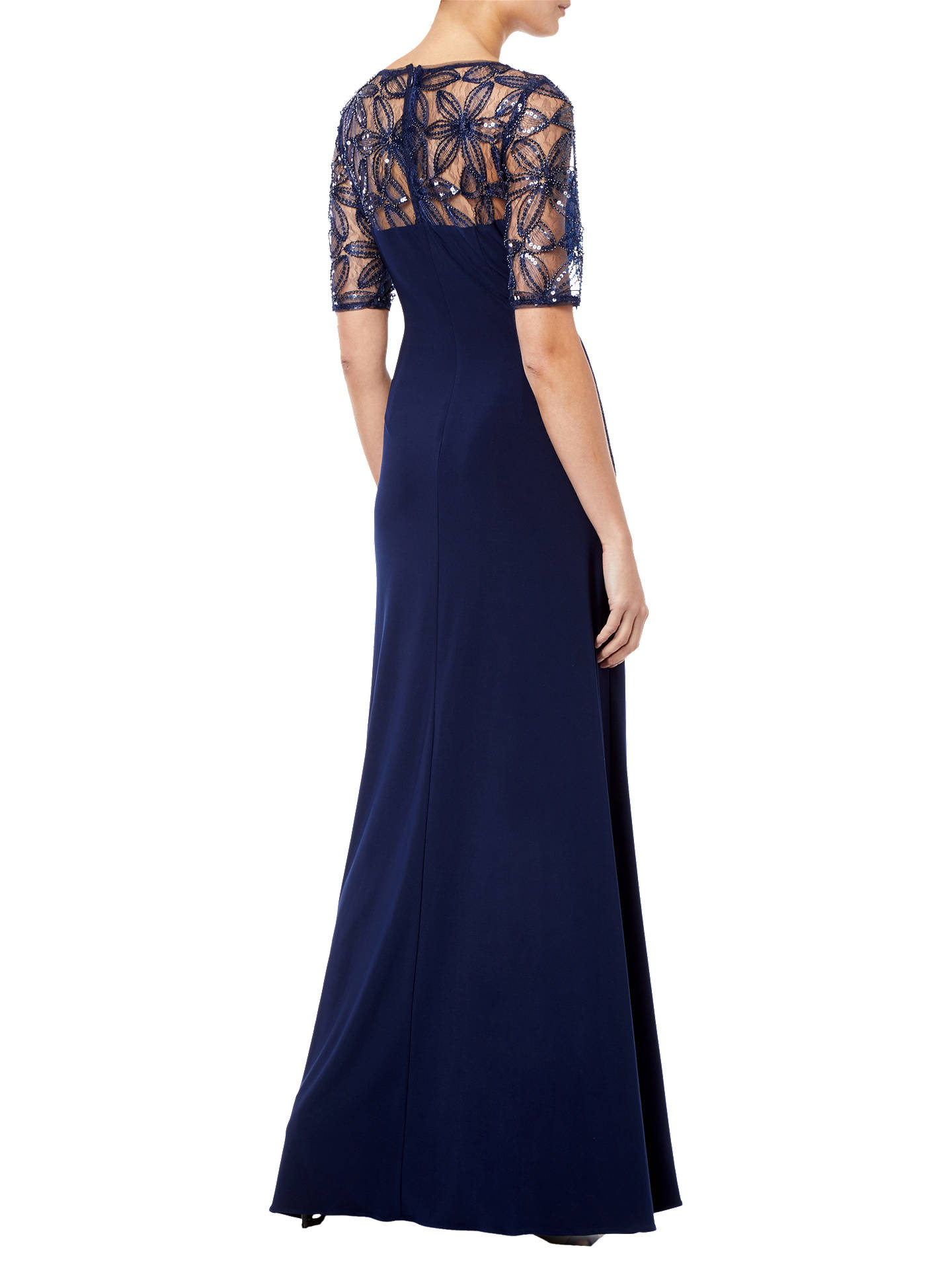 Buy Adrianna Papell Long Jersey Dress, Midnight, 8 Online at johnlewis.com