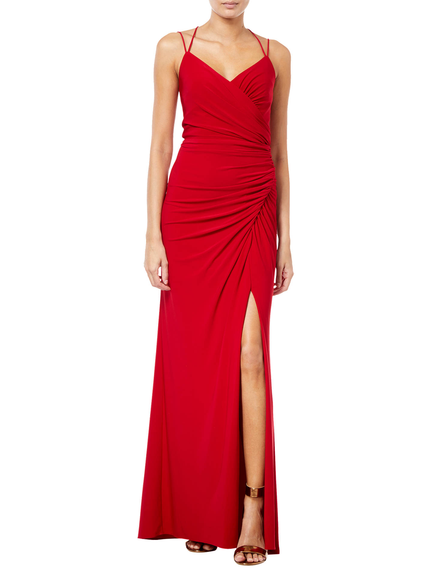 3349cb022e25 Buy Adrianna Papell Jersey Dress, Cardinal Red, 6 Online at johnlewis.com  ...