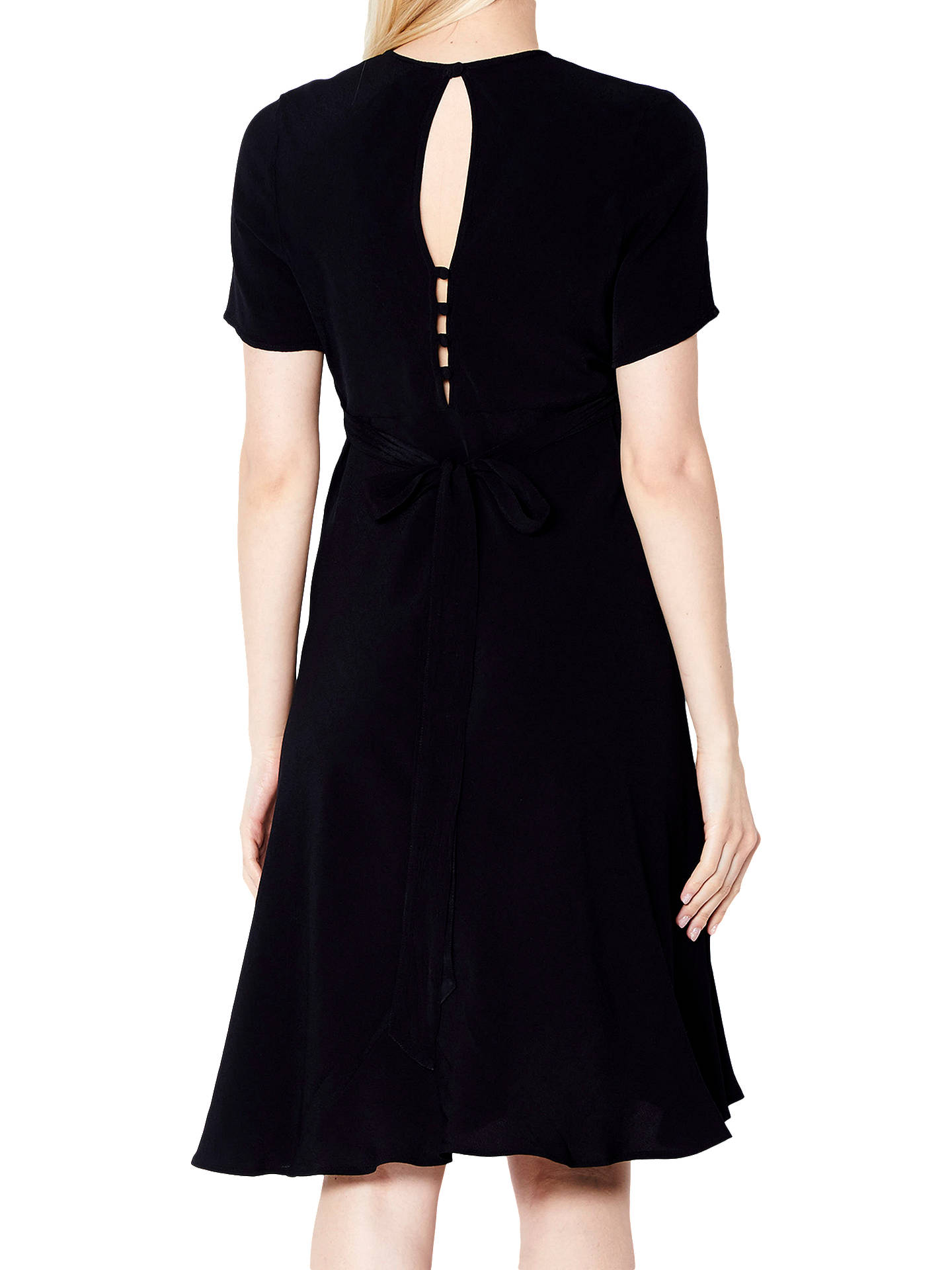 BuyGhost Roxy Crepe Dress, Black, XS Online at johnlewis.com
