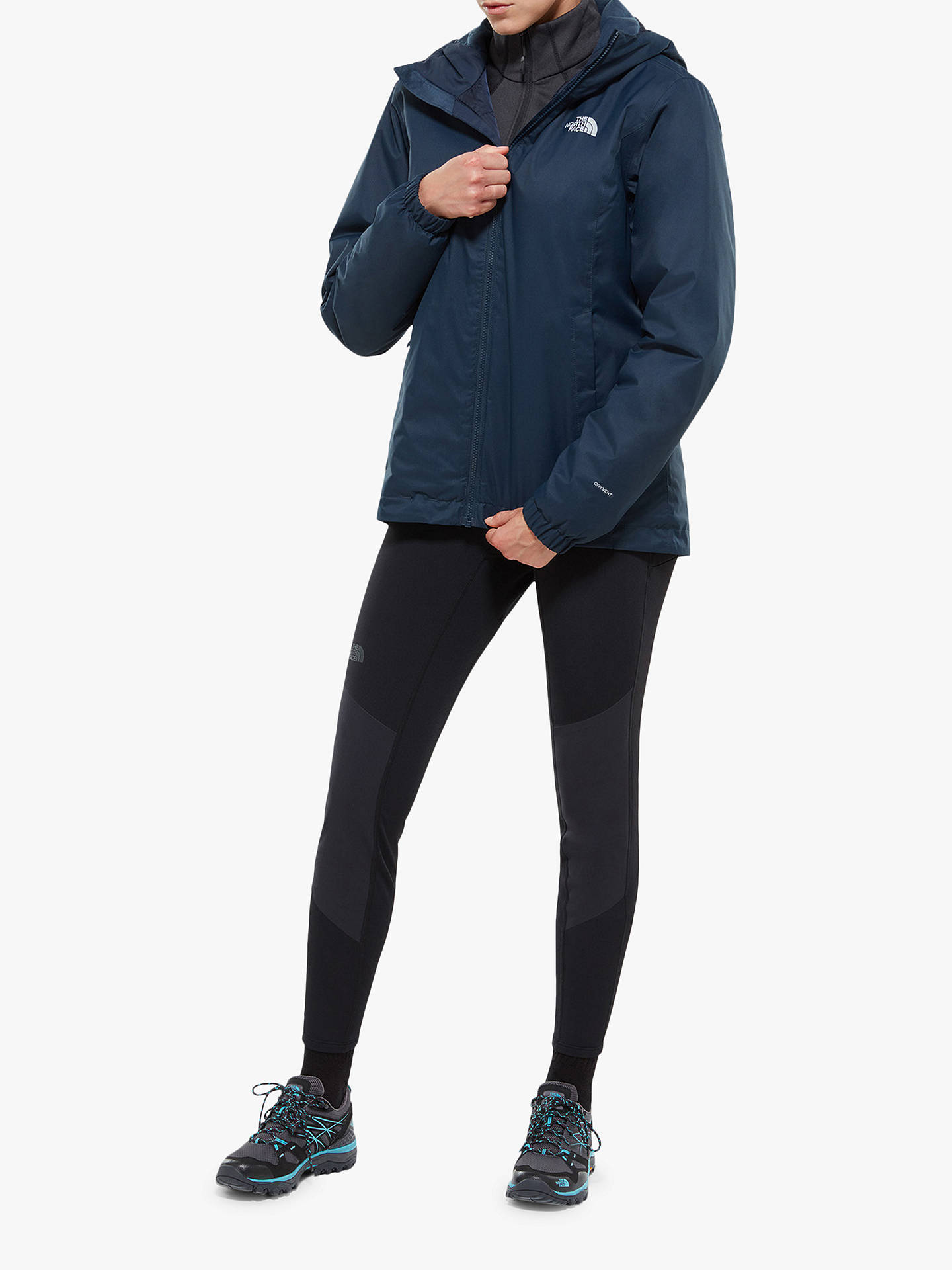 BuyThe North Face Quest Women's Insulated Waterproof Jacket, Navy, M Online at johnlewis.com