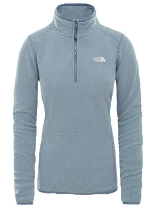 Buy The North Face Glacier Quarter Zip Women's Fleece, Grisaille Grey, M Online at johnlewis.com