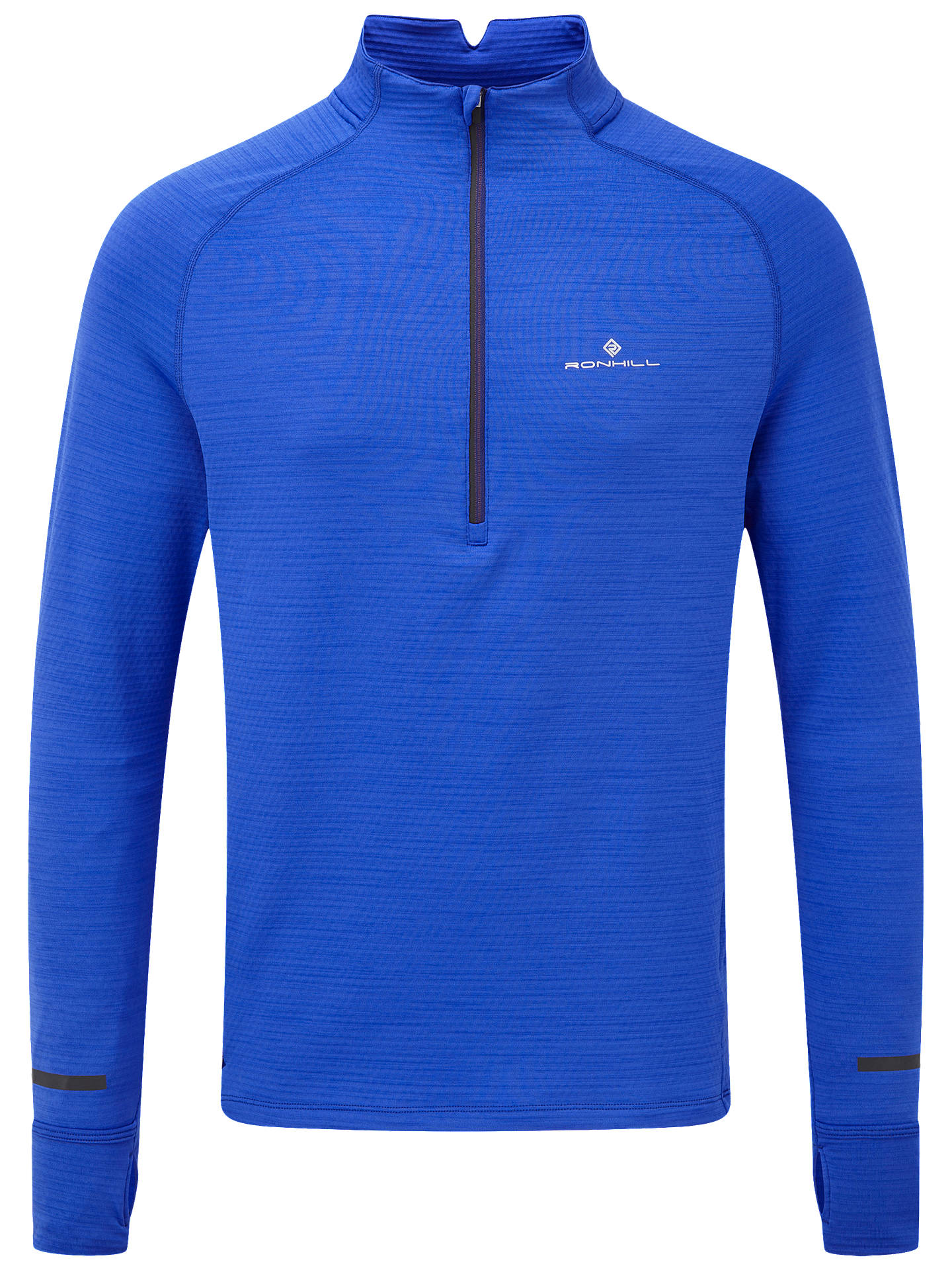 BuyRonhill Matrix 1/2 Zip Long Sleeve Running Top, Azurite, L Online at johnlewis.com