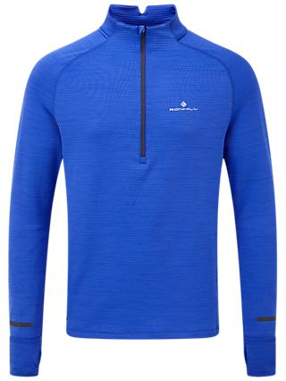 Ronhill Matrix 1/2 Zip Long Sleeve Running Top, Azurite
