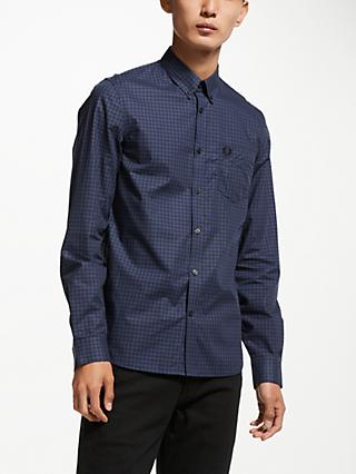 Fred Perry Check Bomber Shirt, Blue