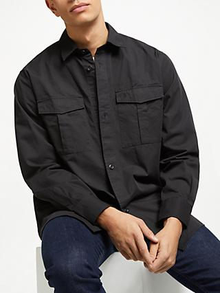 Fred Perry Utility Overshirt, Black