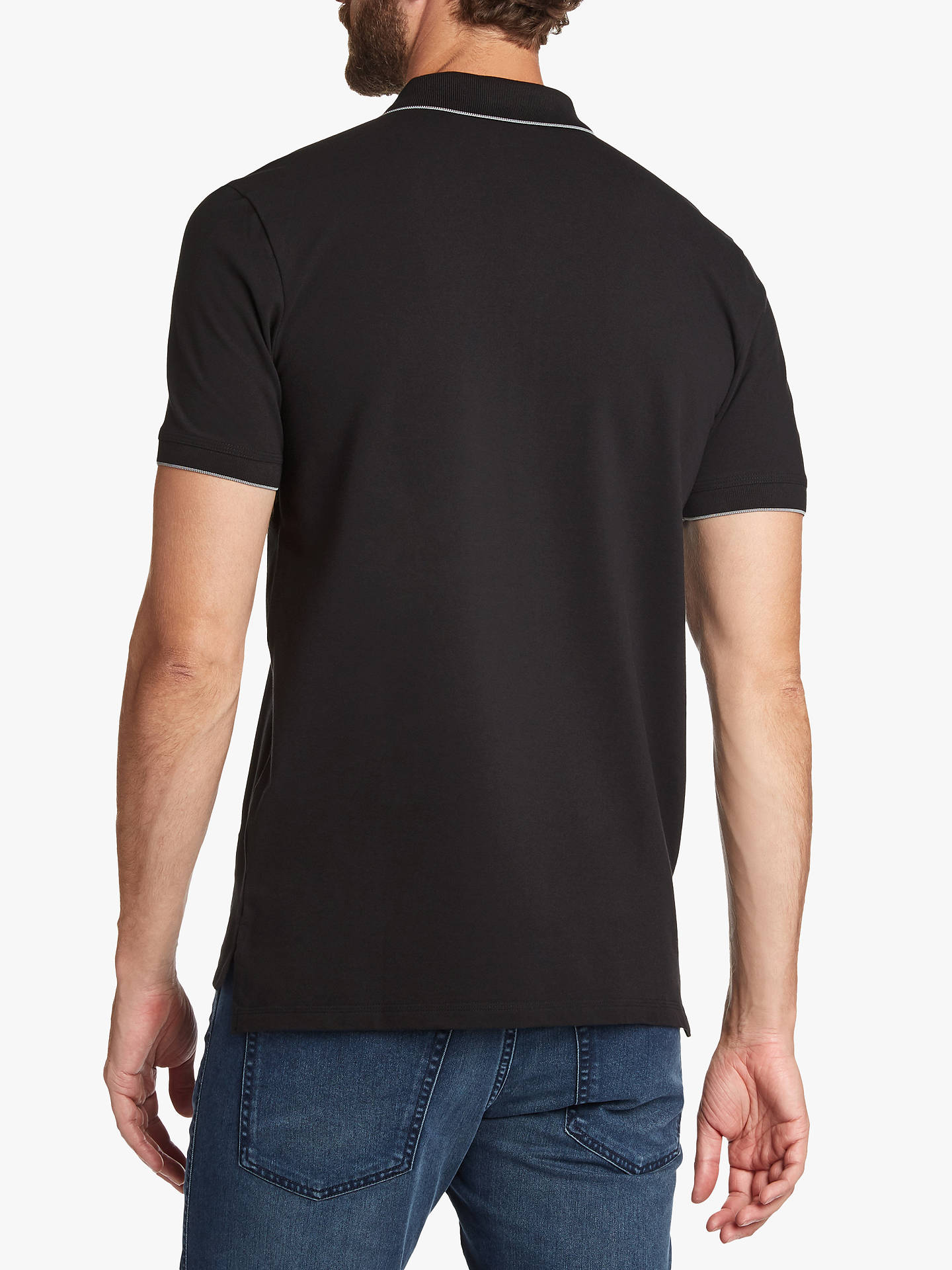 ef0d4975 ... Buy HUGO by Hugo Boss Dinoso Contrast Tipping Polo Shirt, Black, S  Online at ...