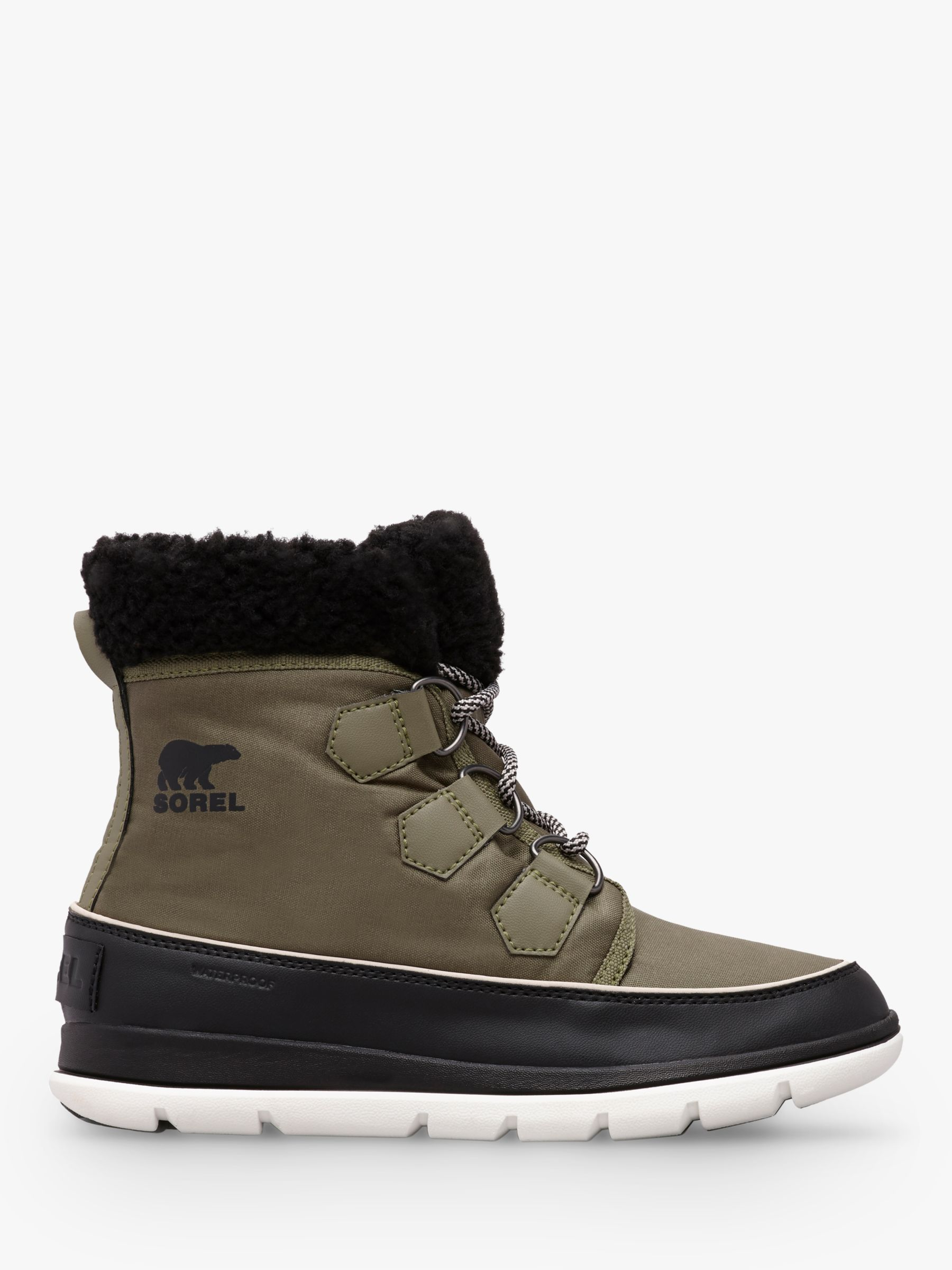 Sorel Sorel Carnival Lace Up Ankle Snow Boots, Green