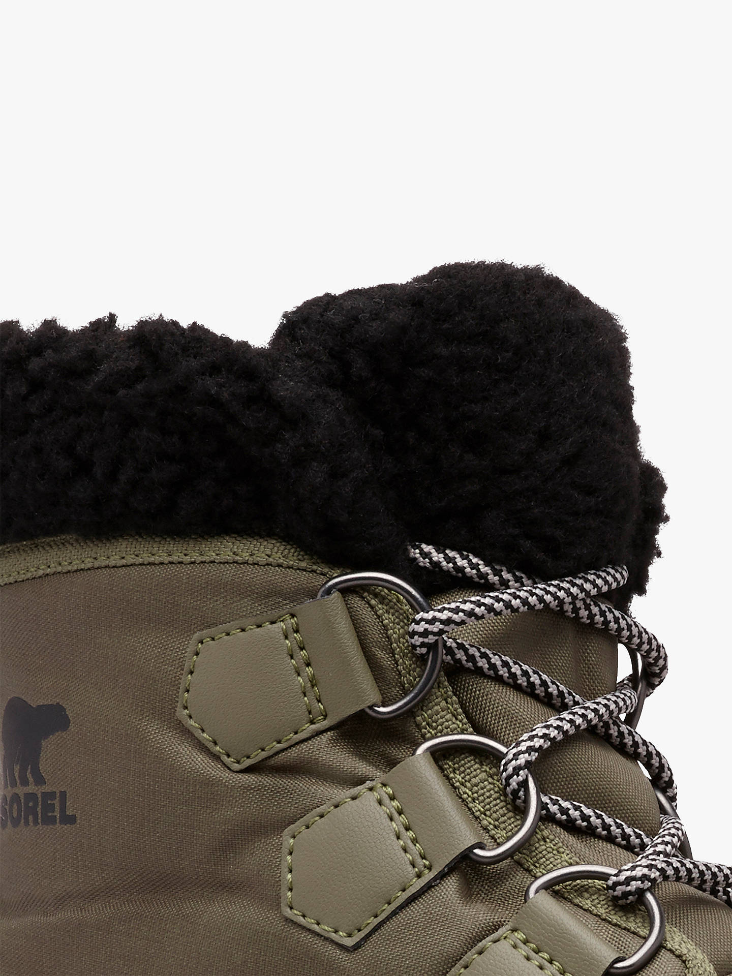 Buy Sorel Carnival Lace Up Ankle Snow Boots, Green, 5 Online at johnlewis.com