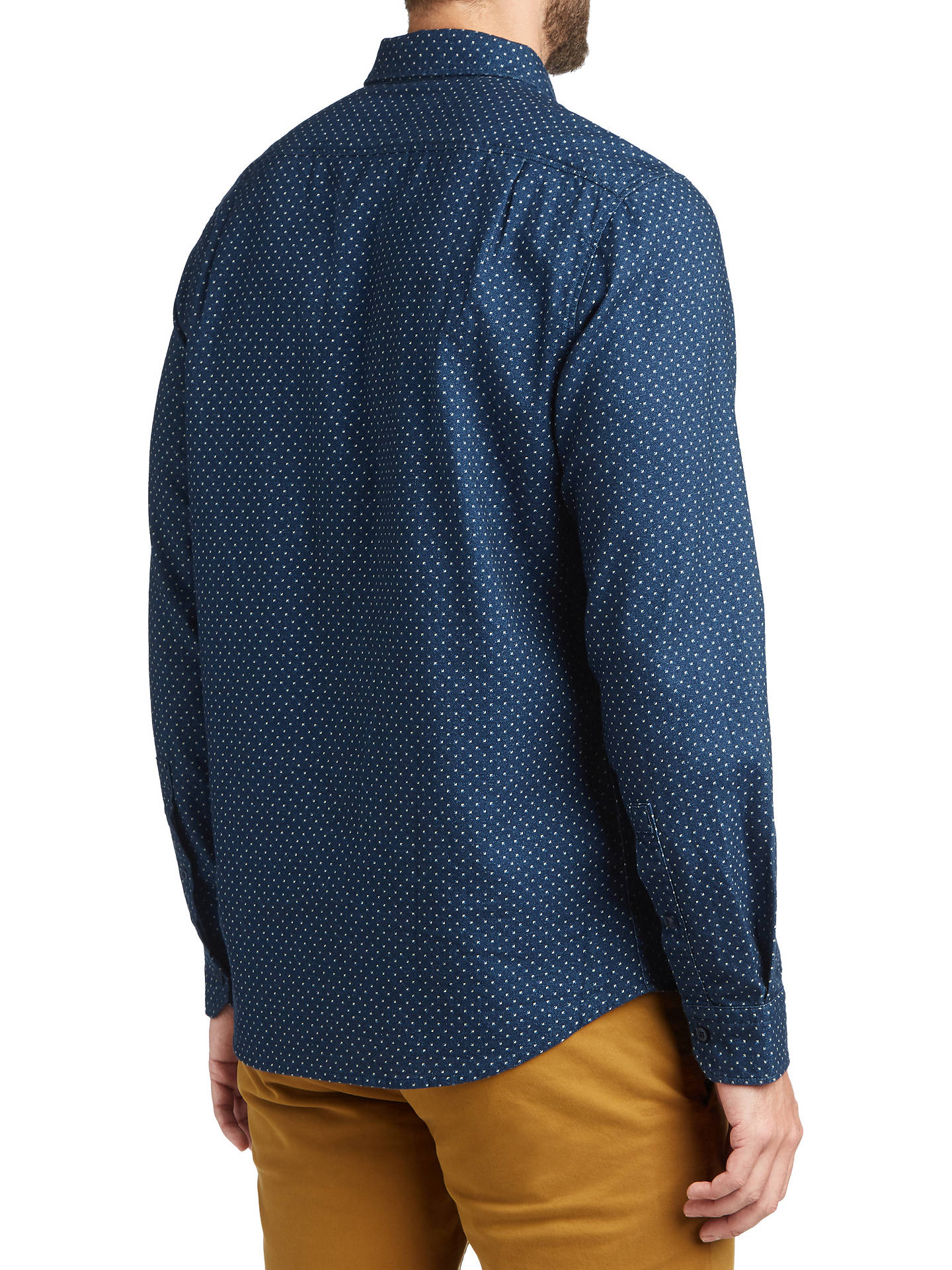 BuyBOSS Reggie Long Sleeve Shirt, Dark Blue, M Online at johnlewis.com