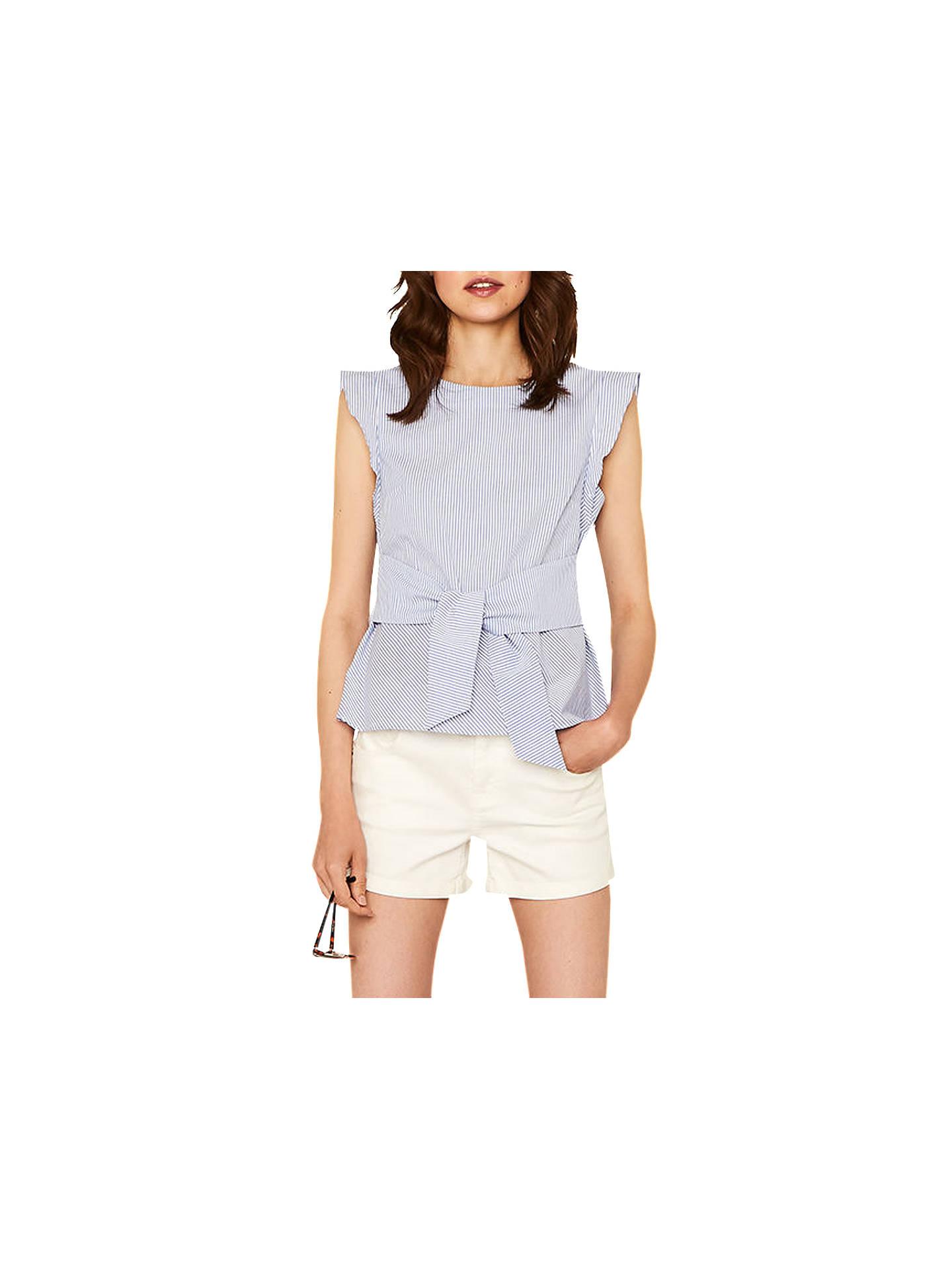 43fee0327a7d Buy Oasis Ticking Stripe Top, Blue, 8 Online at johnlewis.com ...