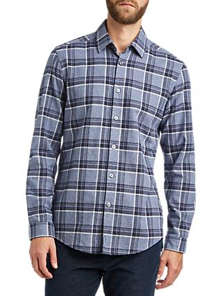 BOSS Letterio Regular Fit Cotton Shirt, Open Blue