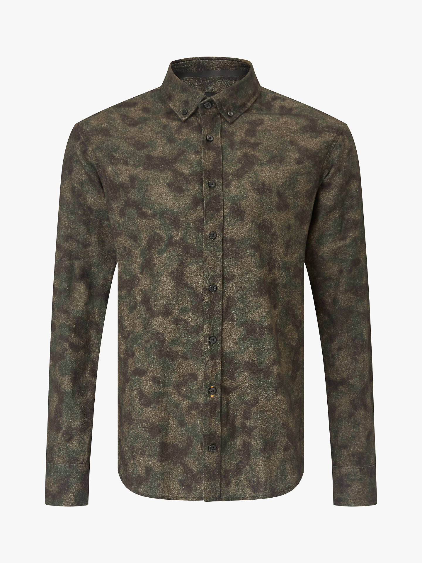 Buy BOSS Masboot Slim Fit Shirt, Dark Green, M Online at johnlewis.com