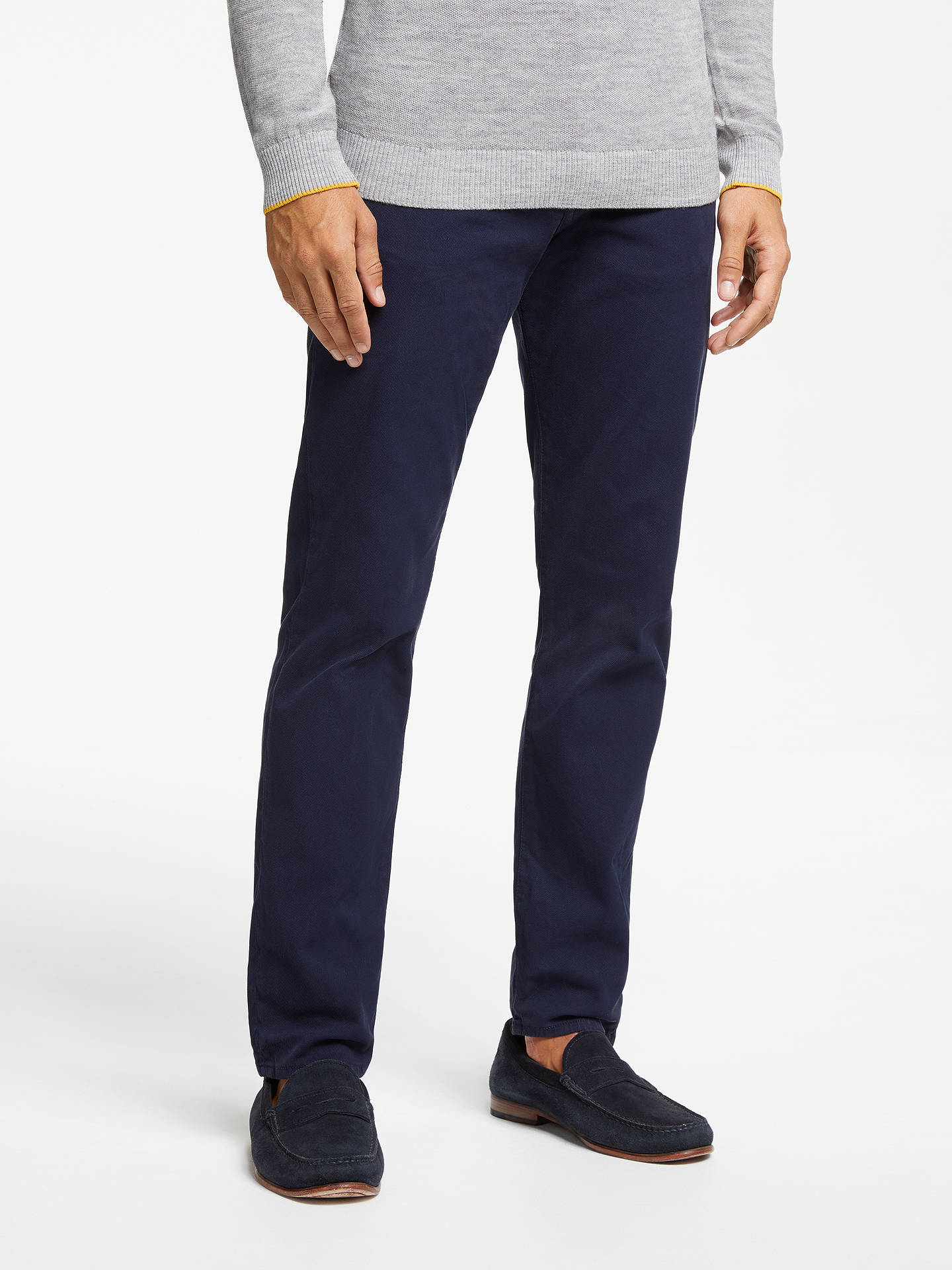 BuyPS Paul Smith Stretch Twill Tapered Fit Jeans, Navy, 30R Online at johnlewis.com