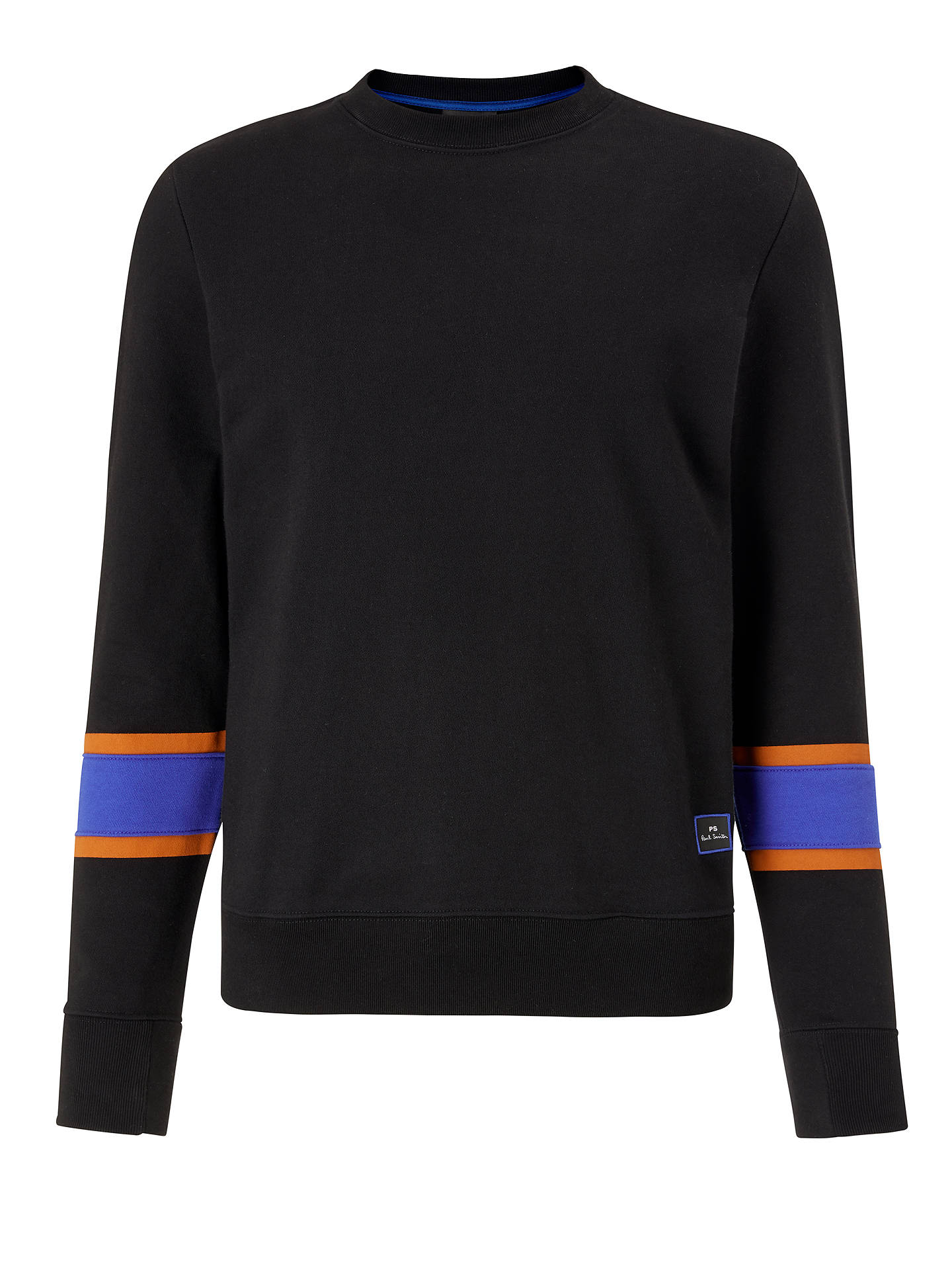 Buy PS Paul Smith Stripe Sweatshirt, Black, XL Online at johnlewis.com