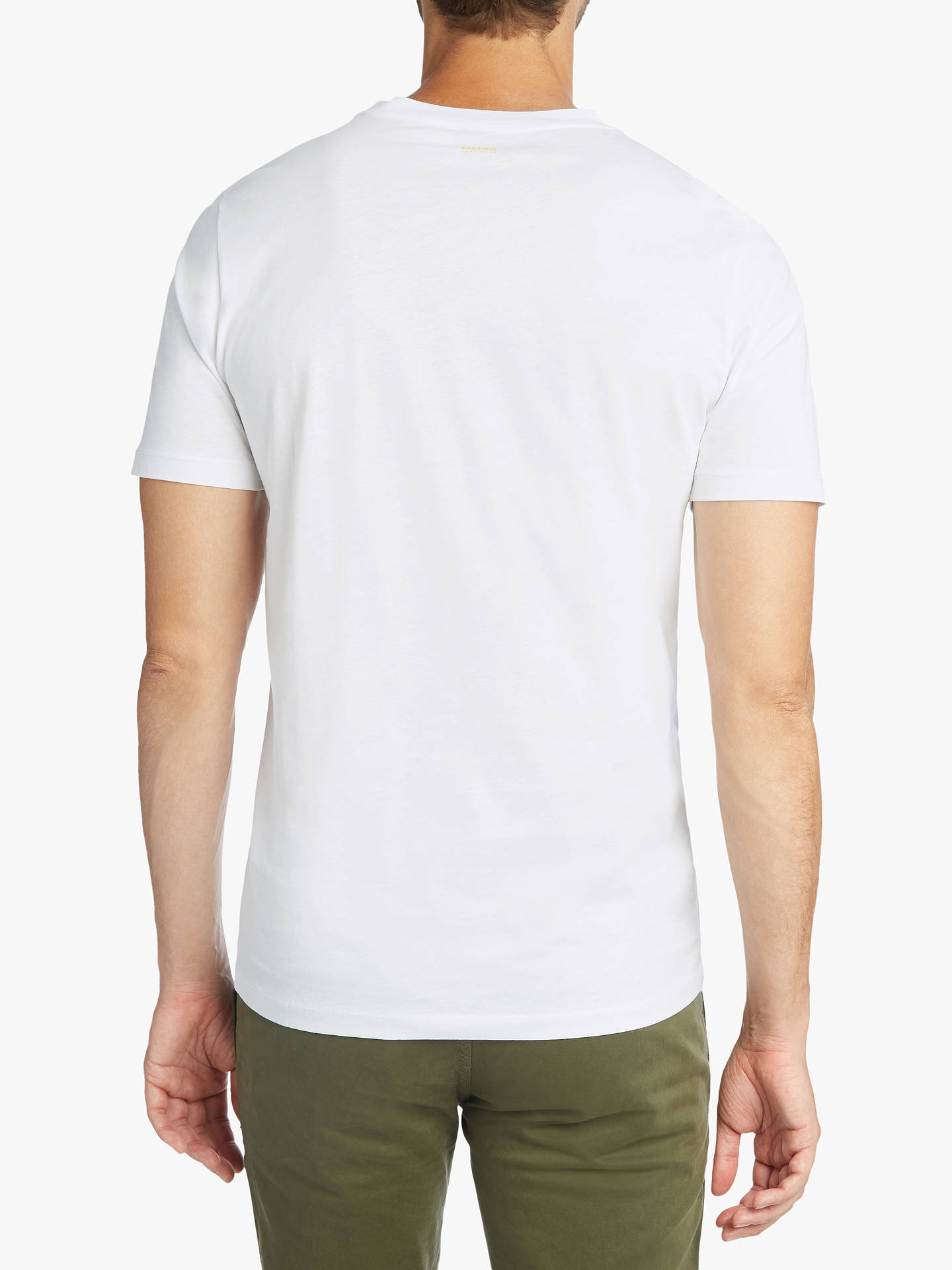 Buy BOSS TLax 2 Short Sleeve Graphic T-Shirt, White, XXXL Online at johnlewis.com