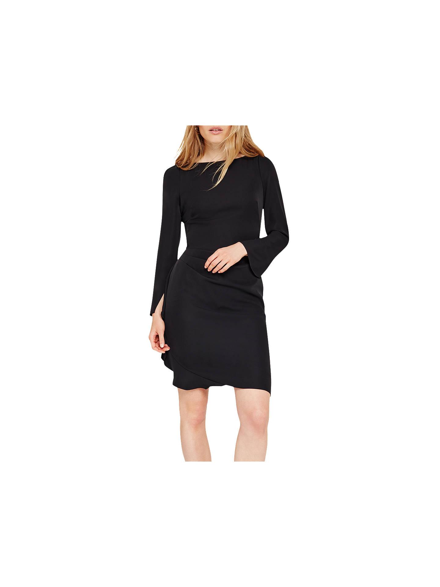 feff4c7b5a7 Buy Damsel in a Dress Carrera Frill Dress, Black, 8 Online at johnlewis.