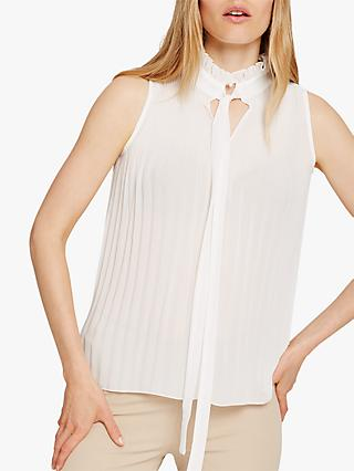 Damsel in a Dress Mona Pleat Blouse, Ivory