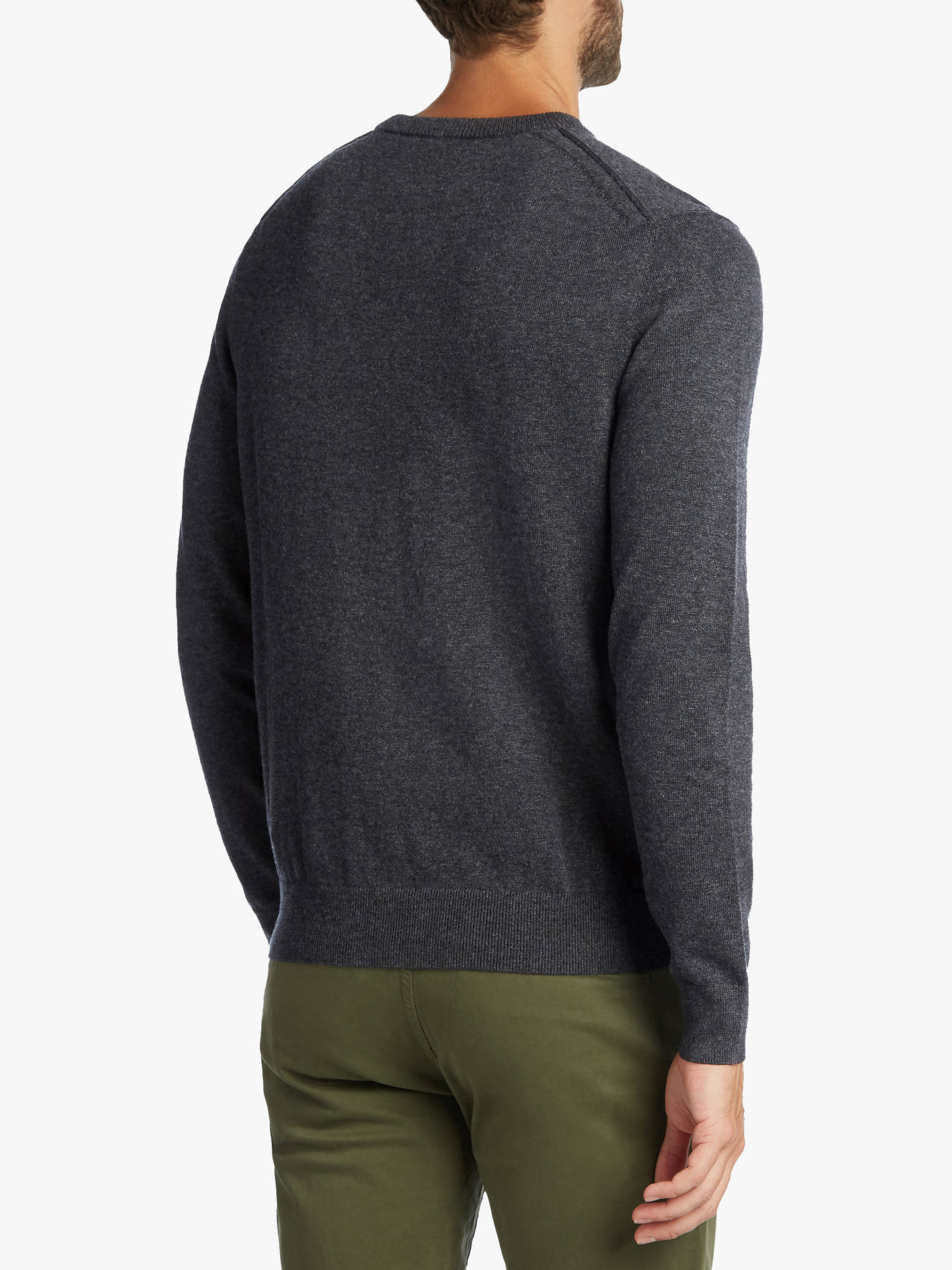 BuyBOSS Albonok Long Sleeve Jumper, Dark Grey, M Online at johnlewis.com
