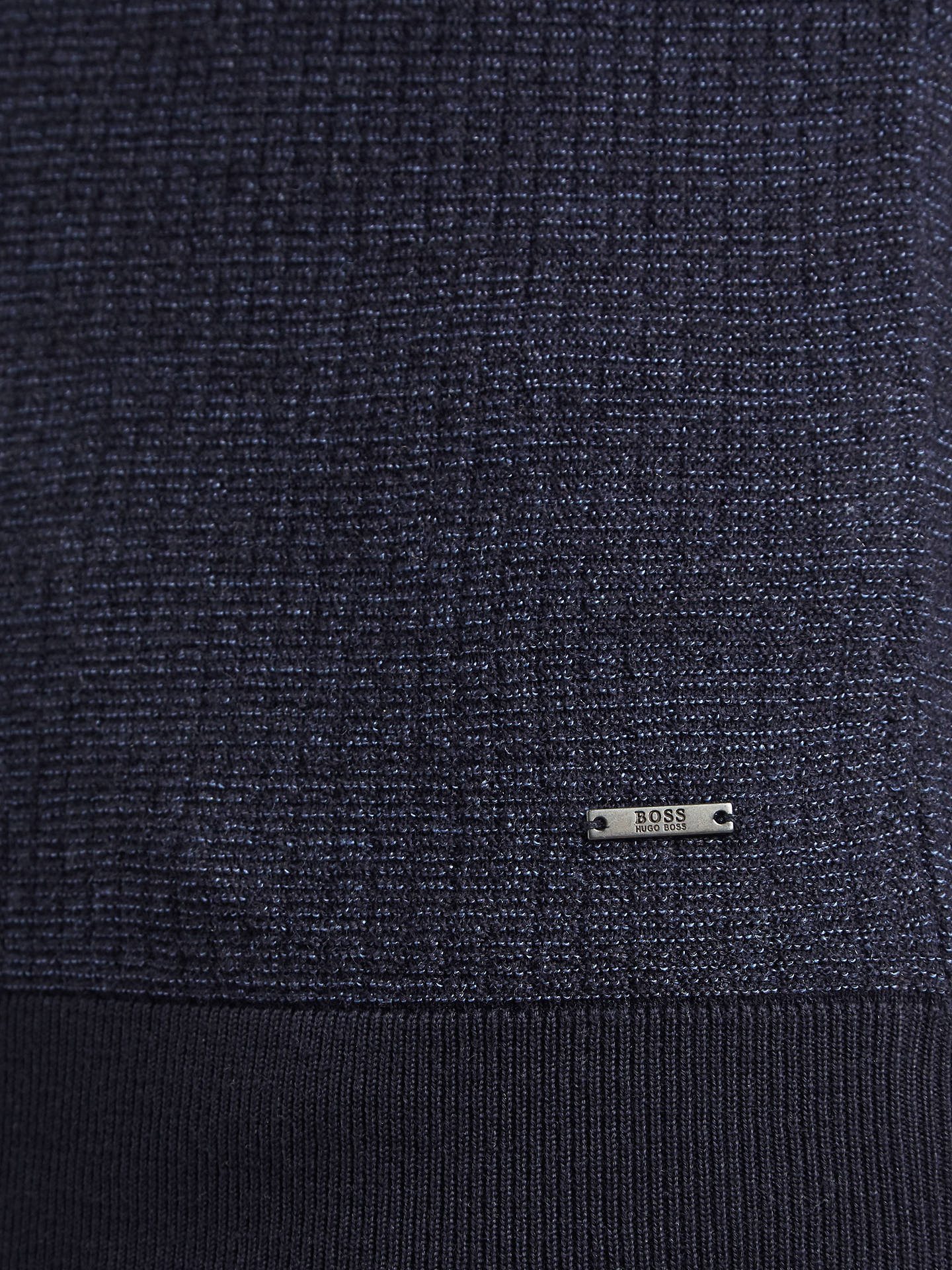 BuyBOSS Emauro V-Neck Jumper, Open Blue, S Online at johnlewis.com
