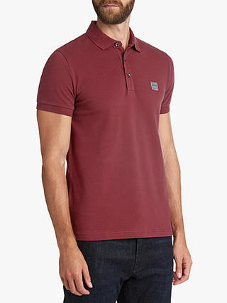 Buy BOSS Passenger Short Sleeve Polo Shirt, Open Red, S Online at johnlewis.com