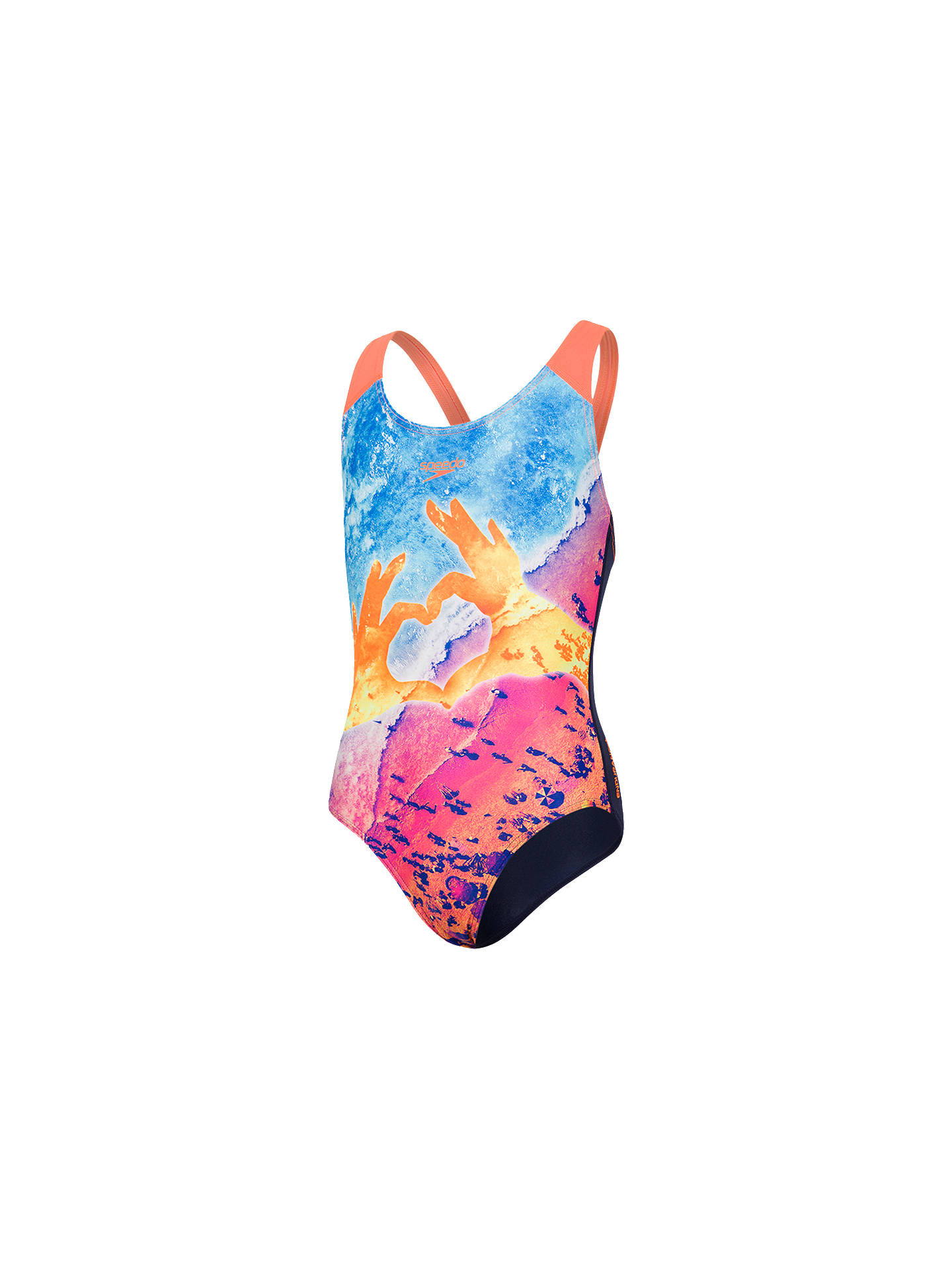 995bf0180c Buy Speedo Girls' Digital Splashback Swimsuit, Multi, 30 Online at  johnlewis. ...