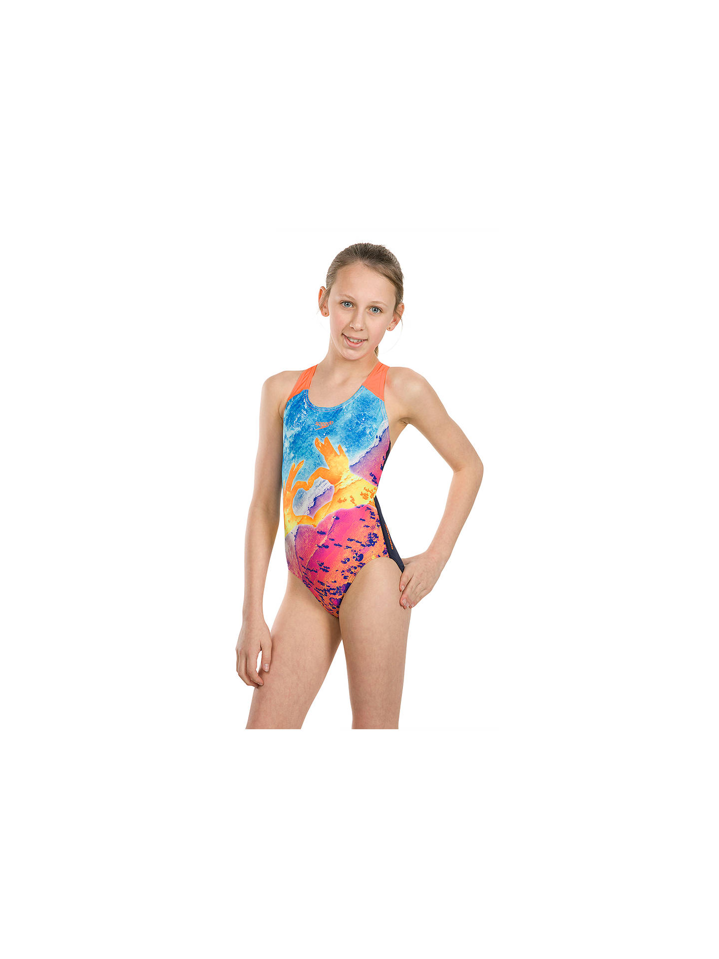 Buy Speedo Girls' Digital Splashback Swimsuit, Multi, 34 Online at johnlewis.com