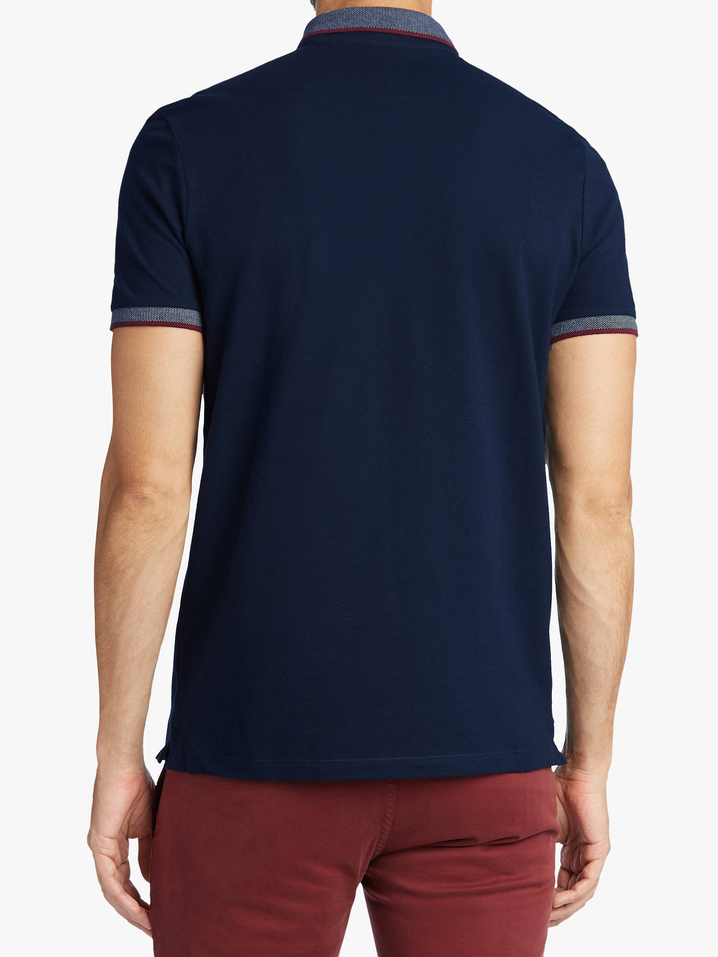 BuyBOSS Porch Polo Top, Dark Blue, XL Online at johnlewis.com