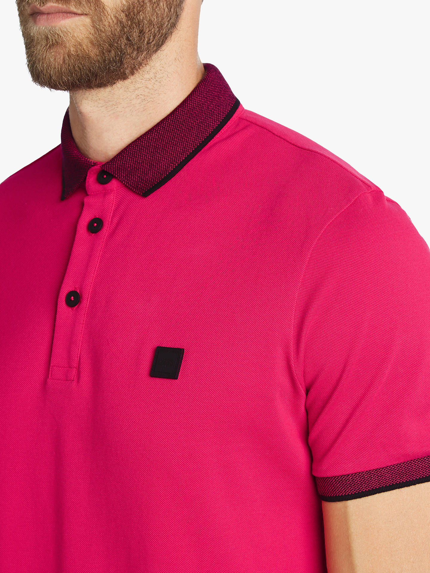 BuyBOSS Porch Short Sleeve Polo Shirt, Bright Red, S Online at johnlewis.com