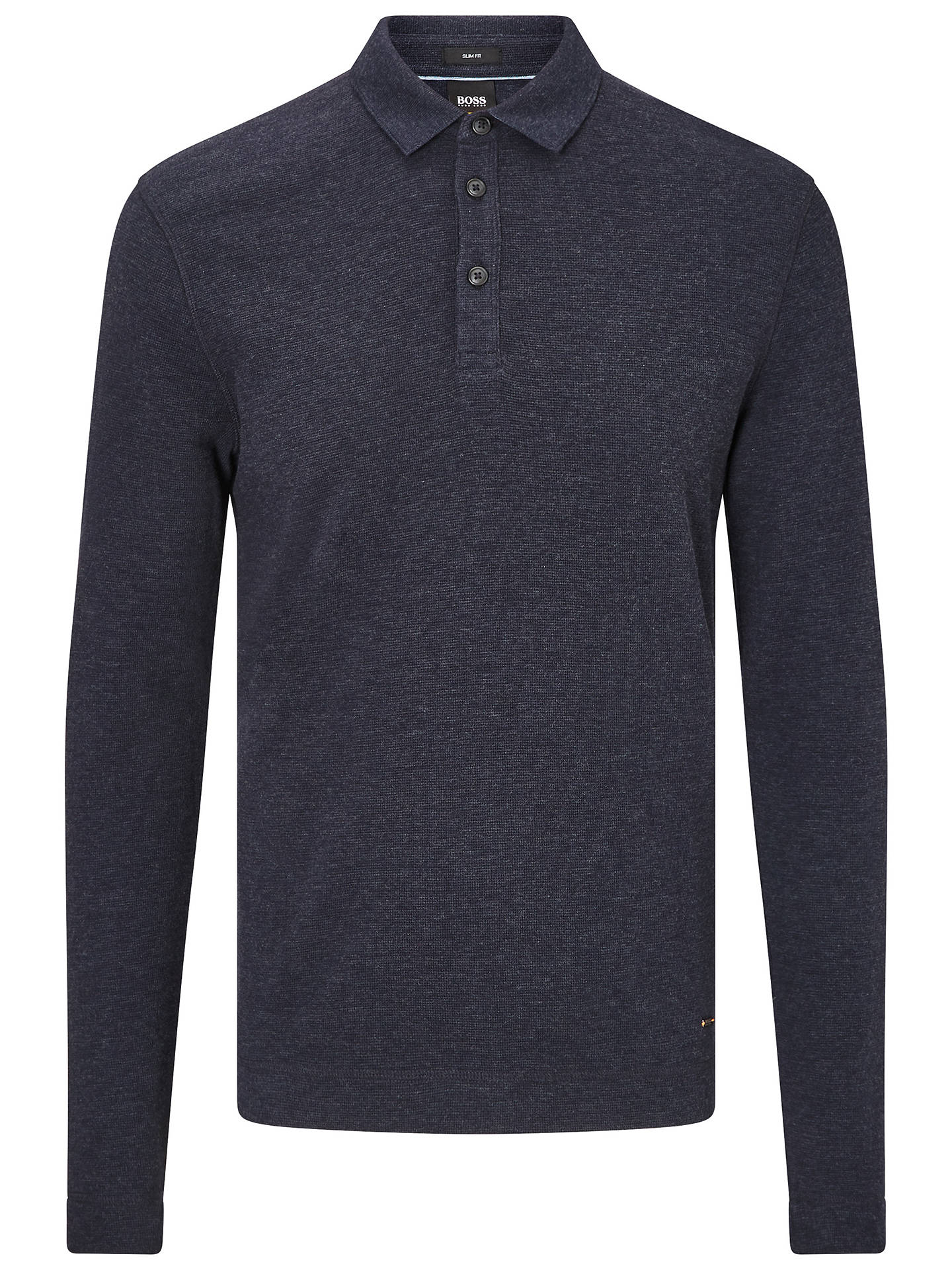BuyBOSS Prix Long Sleeve Polo Shirt, Dark Blue, L Online at johnlewis.com