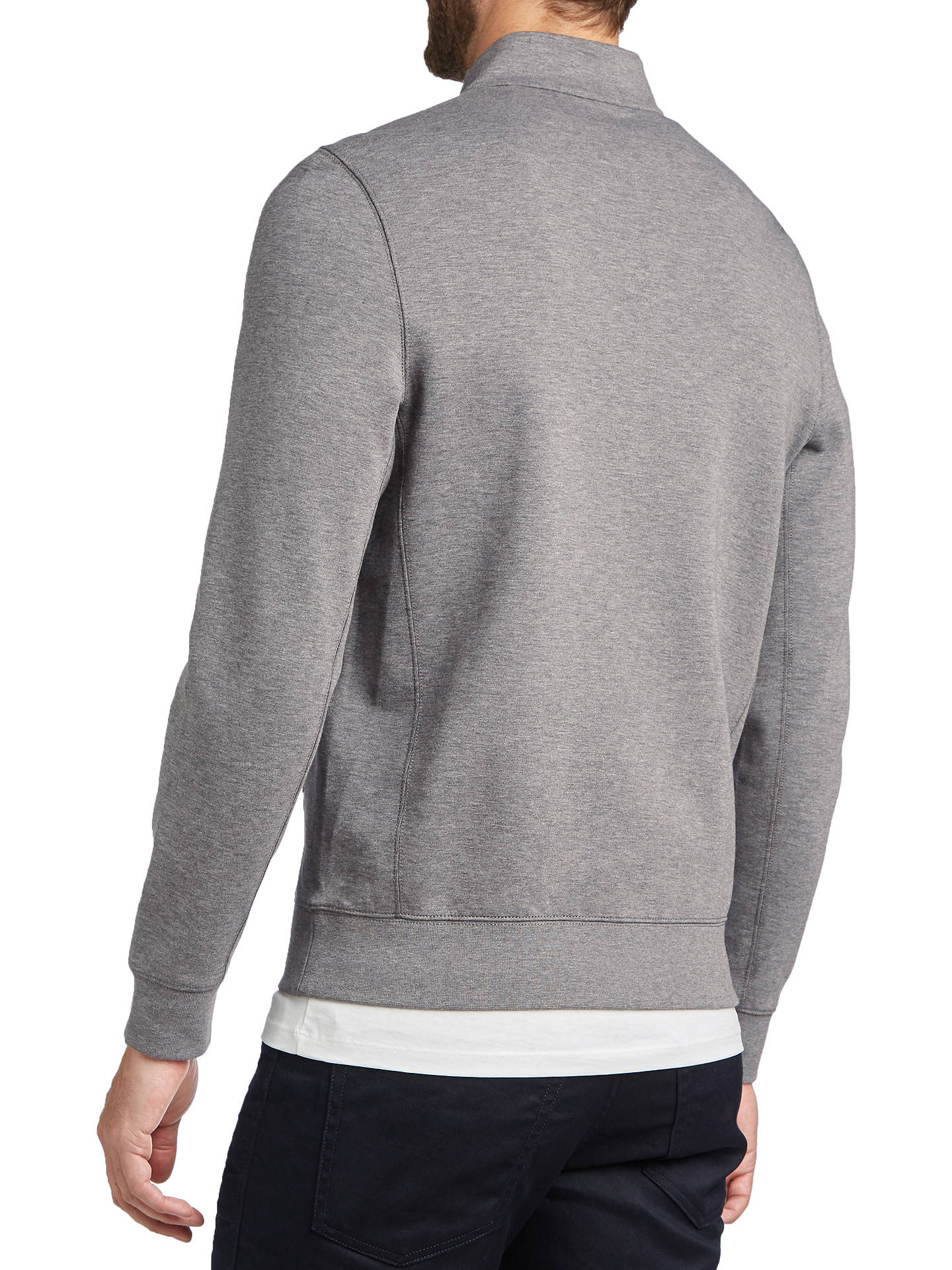 BuyBOSS Siegal Half Zip Jumper, Medium Grey, L Online at johnlewis.com