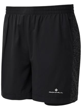 Ronhill After Light Twin Running Shorts, All Black