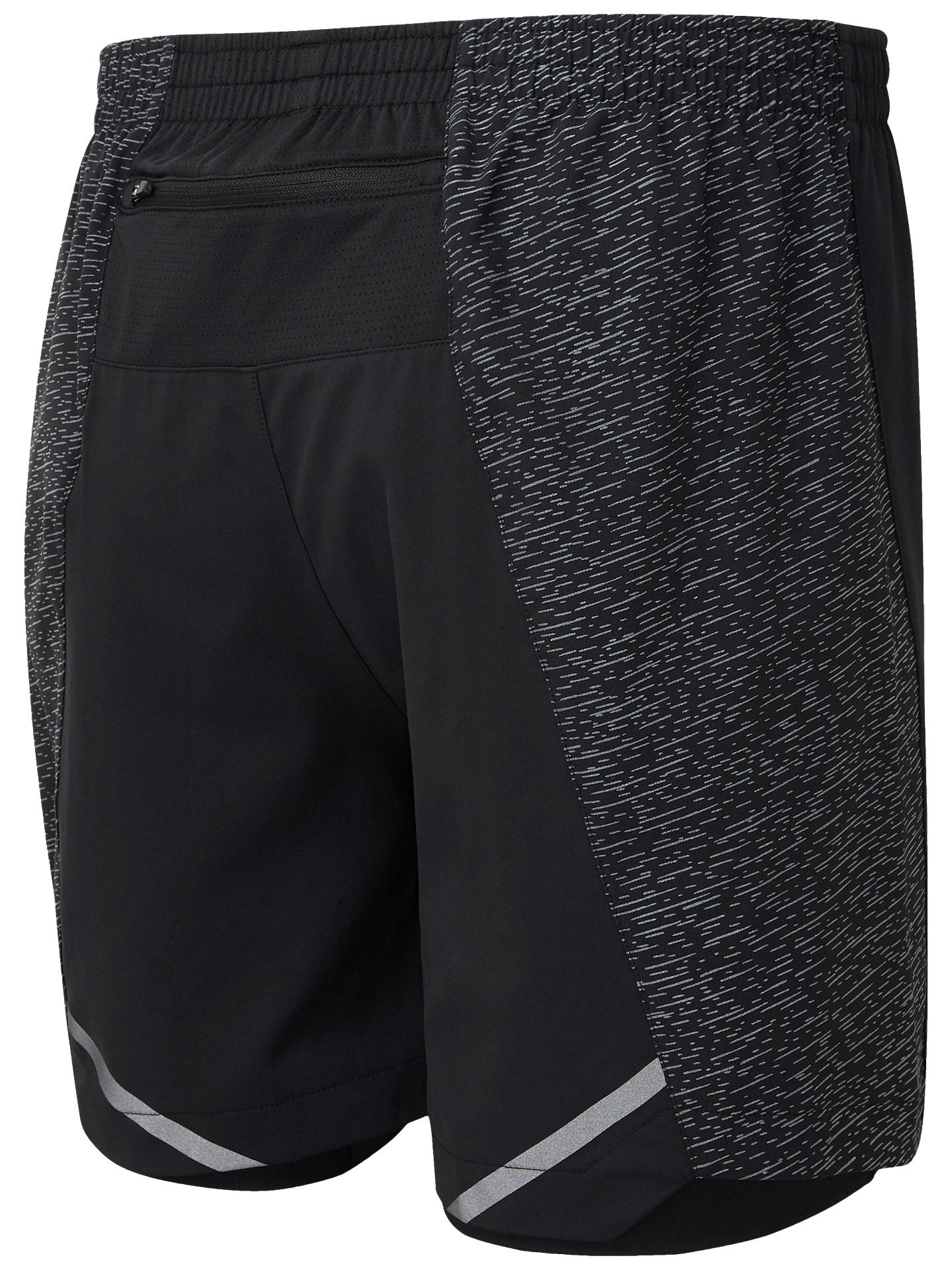 Buy Ronhill After Light Twin Running Shorts, All Black, XL Online at johnlewis.com