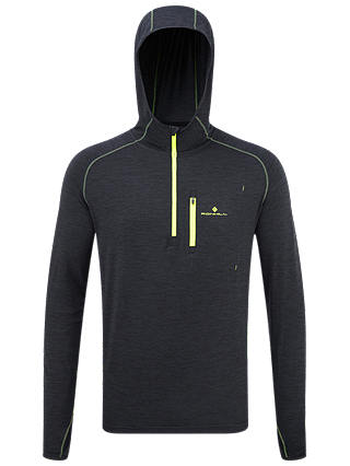 Buy Ronhill Momentum Running Hoodie, Charcoal Marl/Yellow, S Online at johnlewis.com
