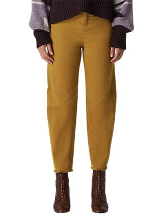 Whistles Frayed Hem High Waist Jeans, Camel