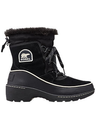 Buy Sorel Torino Lace Up Ankle Snow Boots, Black Suede, 5 Online at johnlewis.com