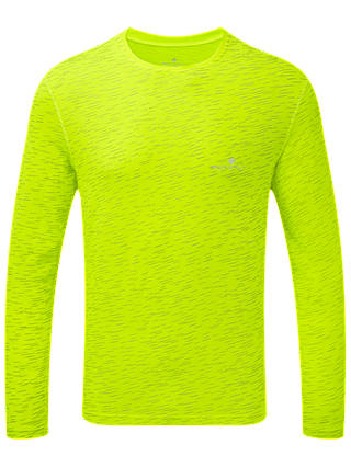 Buy Ronhill After Light Long Sleeve Running Top, Fluorescent Yellow, M Online at johnlewis.com